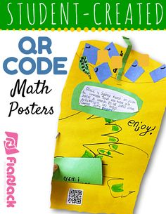 Student-Created QR Code Math Posters Tutorial - Easy steps for having students create their own answer QR codes for math word problem posters.
