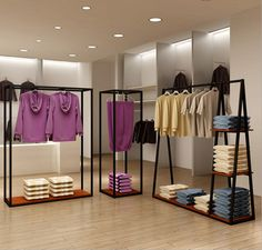 New Ideas Clothes Shop Display Storage Retail Clothing Racks, Clothing Store Interior, Clothing Store Displays, Design Shop, Store Design, Display Design, Visual Merchandising, Industrial Style Furniture, Antique Furniture