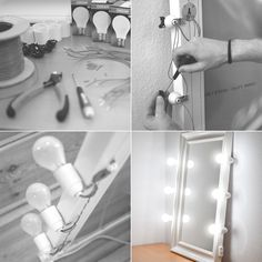 How To Make A Vanity Mirror With Lights Cool Diy Vanity Mirror With Lights For Bathroom And Makeup Station