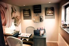 """""""The shed""""nail salon feature wall"""