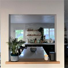 Floating Shelves Kitchen, Rustic Shelves, Kitchen Shelves, White Oak, Shelving, Modern, Home, Style, Rustic Shelving