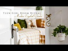 Modern English Garden Teen Girl Room Reveal - YouTube Modern English, Homemaking, Girl Room, Teen, Table Decorations, Garden, Youtube, Furniture, Bedrooms