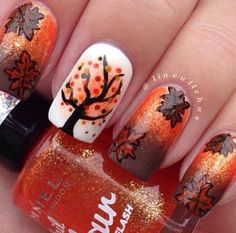 Autum nails for Shanna.