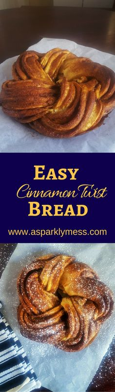 This delicious, soft Cinnamon Twist Bread bakes into a beautiful sweet treat. Perfect for sharing or a take along dessert perfect for any occasion.