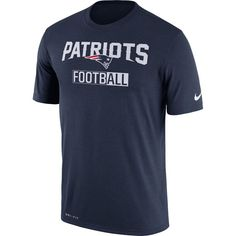 New England Patriots Nike All Football Legend Performance T-Shirt - Navy