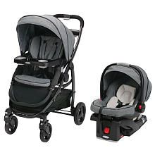 This is THE perfect stroller. It's a little pricey at $370 but it includes the carseat and it has 10 different options positions from infant to toddler. Totally worth the price I think. I want it in downton