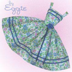 Royal Blue Romance- Vintage Barbie Doll Dress Reproduction Repro Barbie Clothes