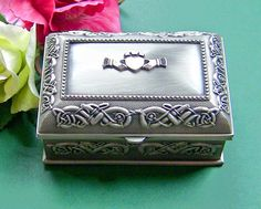 The Irish Wake - Irish Keepsake Cremation Urn: Mullingar Pewter Claddagh Box, $59.00 (http://www.irishwakestore.com/irish-keepsake-cremation-urn-mullingar-pewter-claddagh-box/)
