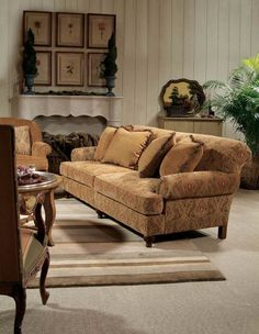 We selected this sofa in a solid camel color but could select this as well.