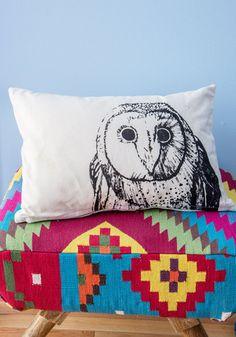Owl Around Adorable Pillow Pinned by www.myowlbarn.com