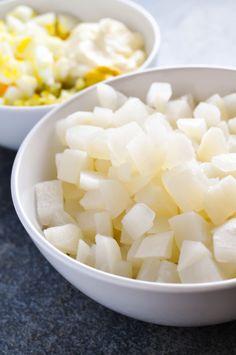 Turnip Fauxtato Salad [RECIPE]| KETOGASM.com #keto #lowcarb #turnip #recipe #lchf #ketogenic #ketosis #vegetarian