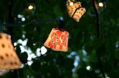 outdoor lights: cupcake liners