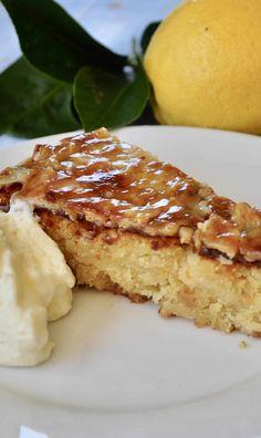 Easy Crustless Lemon Tart - Recipe Winners Lava Cake Recipes, Lemon Dessert Recipes, Lava Cakes, Tart Recipes, Lemon Recipes, Sweet Recipes, Baking Recipes, Poke Cakes, Bundt Cakes