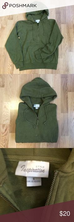 Style Inspiration pullover hoodie ✌️️ Perfect condition! Never worn! Super soft and warm! This is a pull over hoodie with a front zipper. This is a size women's small ✌️️ Tops Sweatshirts & Hoodies