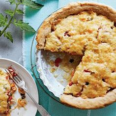 So delicious, so fattening. Classic southern tomato pie. I always add some mozza and sour cream to make it gooier...