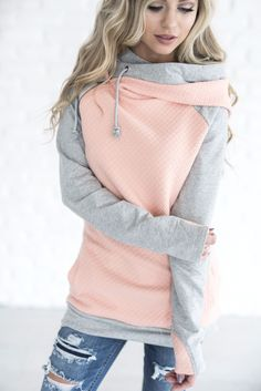 Our most popular piece and for good reason! This hoodie is the cutest way to stay comfortable and cozy while remaining dang cute! It's zipper detail adds a fun element, double hoods keep your noggin warm, and the material will keep you comfortable any (or all) days of the week! About this hoodie: This hoodie has stretch, fits long and slim, if you prefer a overall looser fit we suggest ordering a size up! This material for the body is a medium weight and the sleeve fabric is a slightly…