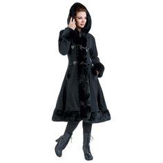 Abrigo Minx - Abrigo Mujer por Poizen Industries -  #gothic #abrigo #gotico #alternative #fashion #empspain #black #negro #hood #darkness