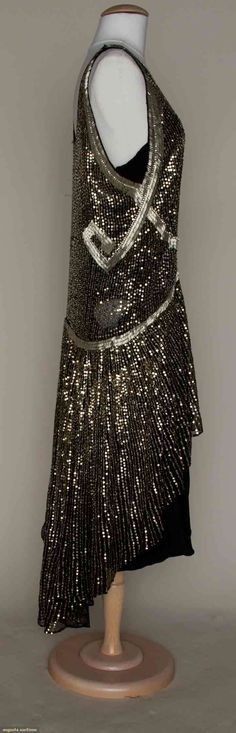 SILVER SPANGLED PARTY DRESS, c. 1925