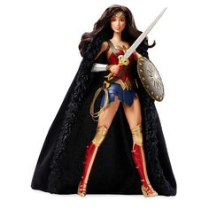 """When an Amazon princess leaves her island home to explore the world, she becomes the greatest of its female Super Heroes-DC Comics Wonder Woman! Inspired by the first-ever Live-Action Wonder Woman feature film. This Amazon warrior is armed for battle wearing her iconic Super Hero costume with headdress, boots, armored bracelets, iconic """"magic"""" lasso, sword, shield and black cape. Doll also features a fully articulated body-perfect for high-action poses.<br><br>DC Comics ..."""