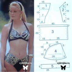 Bikini pattern... like the top but would probably go with a more vintage style bottom, if ever...