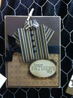 Stampin' Up Card Shirt made of rectangle and folded strip