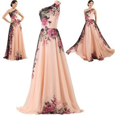 New Long Chiffon Bridesmaid Evening Formal Party Ball Gown Prom Dress Plus Size #GraceKarin #BallGown #Formal