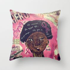 Breast+Cancer+Awareness+2+Throw+Pillow+by+Tiffany+Alcide+(owner+of+WISE+Art)+-+$20.00