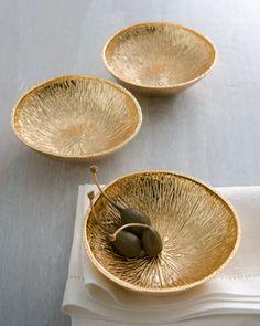 """Lemonwood"" Bowls by Michael Aram"