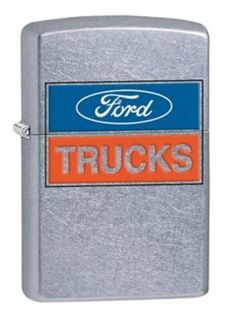 Ford Trucks - it's that simple. Those words are color imaged onto this Street Chrome™ design. Comes packaged in an environmentally friendly gift box. For optimal performance, use with Zippo premium li
