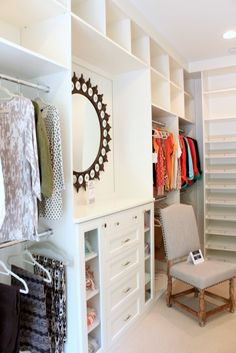 Southern Living Idea House Master Closet Storage