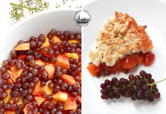 Peach and Champagne Grapes Crumble! So deliciously fruity!