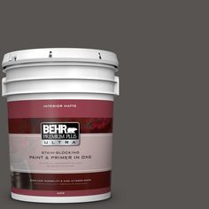 BEHR Premium Plus Ultra 5 gal. #hdc-CL-24G Equestrian Leather Matte Interior Paint