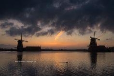 Monday in Holland #zaanseschans #holland #mill #molen #sunrise #zonsopkomst