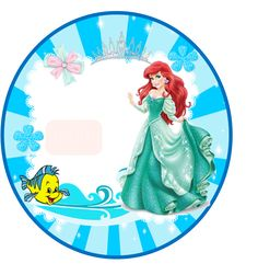 The Little Mermaid: Free Printable Toppers and Wrappers. Ariel Under The Sea, Mermaid Under The Sea, The Little Mermaid, Ariel Mermaid, Mermaid Beach, Little Mermaid Birthday, Little Mermaid Parties, Oh My Fiesta, Disney Princess Ariel