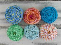 Summer Fun fabric rosettes by sugarsugarhigh on Etsy, $9.00