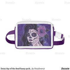 Daisy day of the dead fanny pack by Renee Nylon Fanny Pack