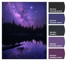 Instantly turn any picture into a palette with ColorSnap, created for you by Sherwin-Williams. Aesthetic Galaxy, Aesthetic Colors, Aesthetic Space, Aesthetic Pastel, Aesthetic Bedroom, Aesthetic Grunge, Color Schemes Colour Palettes, Colour Pallette, Dark Colors