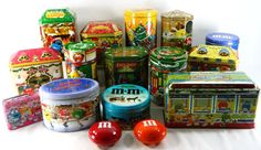 16 M&M Candy Tins Lot Metal Containers Boxes Mars M&M's Holiday Collectibles #2
