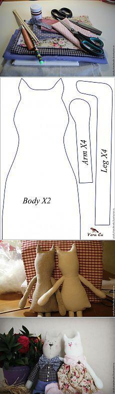 Шьем кота в стиле Тильда - Ярмарка Мастеров - ручная работа, handmade