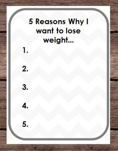 Five Reasons Weight Loss - Why I Want To Lose Weight - Goals Pounds Tracker - Binder Planner New Years Resolution -DIY PDF Digital Printable by PlayfulPrintShop #weightloss