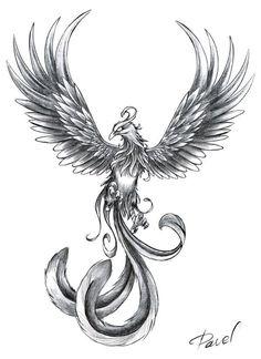 Tatouage phoenix 1458860314314