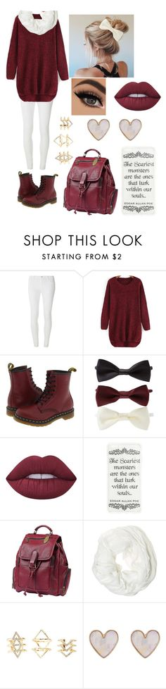 """Marroon"" by thebomb0107 on Polyvore featuring Dorothy Perkins, Dr. Martens, Forever 21, Lime Crime, ClaireChase, Betsey Johnson, Charlotte Russe and New Look"