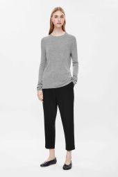 COS image 1 of Silk jumper in Grey
