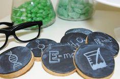 Chalkboard Cookies from a Mad Scientist Birthday Party via Kara's Party Ideas | KarasPartyIdeas.com (10)
