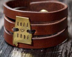 Triple Band Leather Cuff Bracelet Women's Leather Cuff