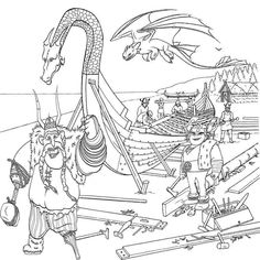how to train your dragon coloring pages 7 attic pinterest