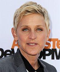 Ellen DeGeneres Hairstyle - Casual Short Straight