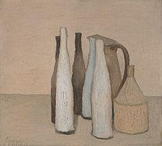 Giorgio Morandi (Italian, 1890–1964)  Still Life (Natura morta), 1951  Oil on canvas; 14 1/8 x 15 3/4 in. (36 x 40 cm)  Museo Morandi, Bologna