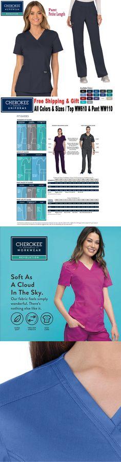 6b49602da1a Sets 105432: Cherokee Scrubs Set Revolution Uniform Mock Wrap Top Cargo  Pant(Ww610 Ww110