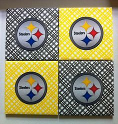 pittsburgh steelers ceramic coasters set of 4 by